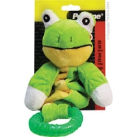 Dog Toy Puppy Animal Kingdom TPR Ring Bungee Frog