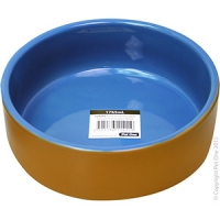 Bowl Terracotta/Blue Glazed 19.6cm Dia 1765ml