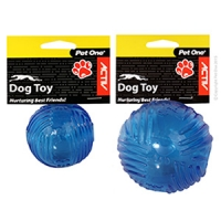 Dog Toy Activ TPR Ball Blue Small 6cm