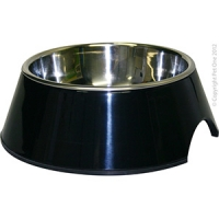 Bowl Round 160ml Melamine/SS Black