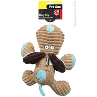 Dog Toy Plush Squeaky Dog Brown/Blue 29cm