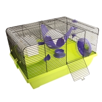 Critter Manor Mouse Wire Cage 50L X 36.5W X cm 29H Purple Green