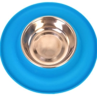 Bowl Silicone S/S Clean Bowl M 350ml Blue