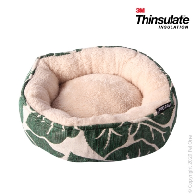 Warmzone Small Animal Bed Round Tropical Leaf
