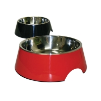 Bowl Round 1400ml Melamine/SS Red