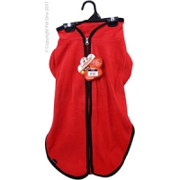 Coat Dog JumpSuit Heavy Fleece Zip Up 55cm Red