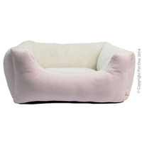 Bedding Ultra Plush Lounger W Fitted Cushion  70 x 60 x 22 cm Musk Cream
