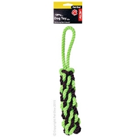 Dog Toy Activ Rope Pull Green Brown Small 35cm