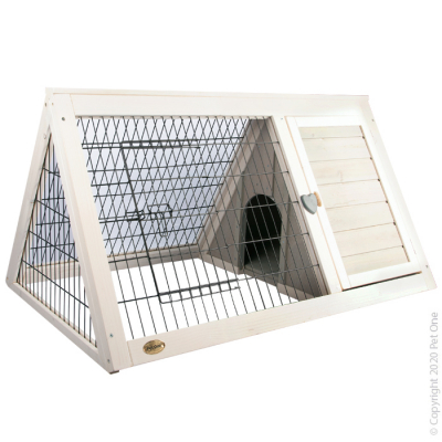 Triangular Wooden Rabbit Hutch