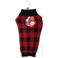 Coat Dog Komfyknit Check 45cm Black/Red