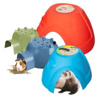 Small Animal Hide Plastic Igloo (M) 19x16.6x9.3cm Blue