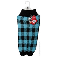Coat Dog Komfyknit Check 50cm Black/Blue