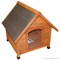 Kennel Chalet (S) Timber Pitched Roof 72W X 76D X 74hcm