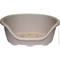 Bedding Plastic Oval Base/48cm 61.5W x 40.5D x 24cm H (Latte)