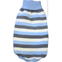 Coat Dog Komfyknit Jumper Striped Blue 50cm