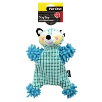 Dog Toy Plush Crackle Racoon Blue 27cm