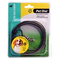 Tie-Out Cable 5M 3mm Suit Dogs Up To 15kg