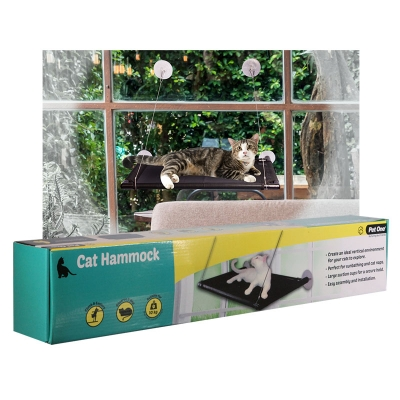 Cat Window Hammock 67 L X 40cm D Black
