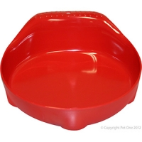 Bowl Small Animal/Small Dog 210ml Melamine Red