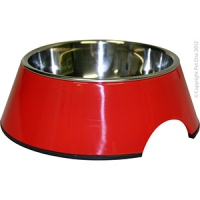 Bowl Round 160ml Melamine/SS Red
