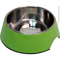 Bowl Round 350ml Melamine/sS Lime Green