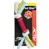 Dog Toy Activ TPR Stick With Lambswool And Corduroy Red