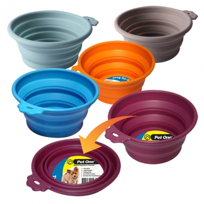 Round Silicone Travel Bowls