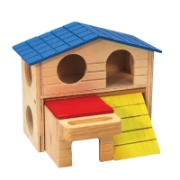 Mouse Playhouse Hidey House Wood 15.5 x 9 x 16cm