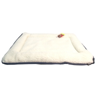 Bedding Cushion Rectangular Waterproof Base W/sheepskin Top 55 x 40cm Blue