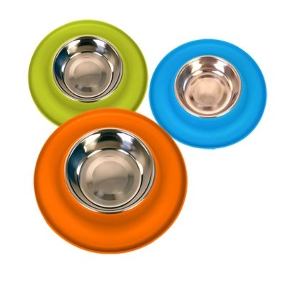 Silicone Clean Stainless Steel Bowls