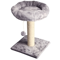 Scratching Tree Post With Bed & Ball 35x35x50cm (grey)