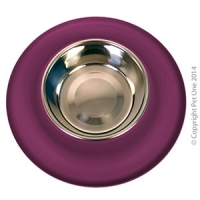 Bowl Silicone S/S Clean Bowl M 350ml Burgundy