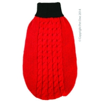 Coat Dog Komfyknit Jumper Red\Black 40cm