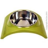 Bowl Melamine/SS Slim Style Single M Lime Green