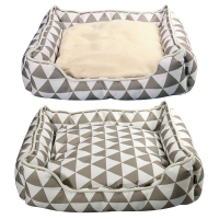 Bedding Rectangular Geometric 65 X 55 X 17.5cm Latte