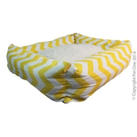 Bed Square 80 x 70 x 19 cm Summer Aztec Yellow