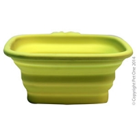 Bowl Silicone Square Travel Bowl S 420ml Lime Green