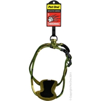 Harness Nylon Adjustable Reflective Toughdog 13mm 23-36cm Camo Green