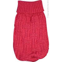 Coat Dog Komfyknit Jumper Icelandic Red 25cm