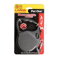 Leash Retractable 5m 40kg and under patterned Carbon