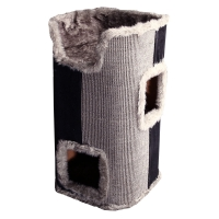 Scratching Tree 2 Cubby With Bed 40x40x75cm (grey)