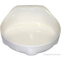 Bowl Small Animal/Small Dog 210ml Melamine White