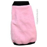 Coat Dog Night Comfy Fleece 50cm Pink