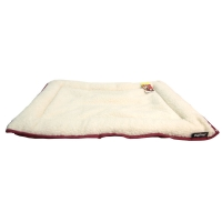 Bedding Cushion Rectangular Waterproof Base W/sheepskin Top 55 x 40cm Red