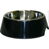 Bowl Round 350ml Melamine/SS Black
