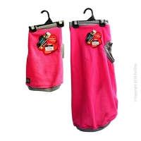 Dog Coat NightComfy Fleece Magenta Grey
