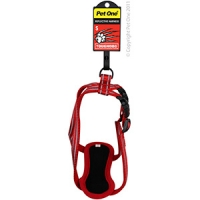Harness Nylon Adjustable Reflective Toughdog 13mm 23-36cm Red