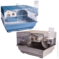 M4 Mouse Cages With Wheel & House (4/ctn) - 34.5 x 28 x 24cm H