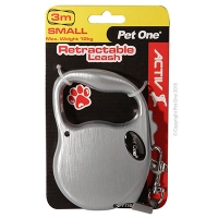 Retractable Leash 3M 12kg And Under (Silver)