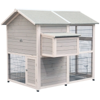 Wooden Chicken House 141 H X 160.5 W X 141 D Cm Two Storey
